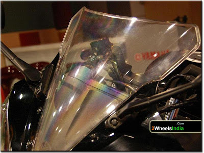 Windscreen/Visor of the Yamaha YZF-R15