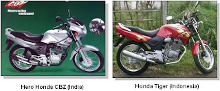 The Hero Honda CBZ & the Honda Tiger