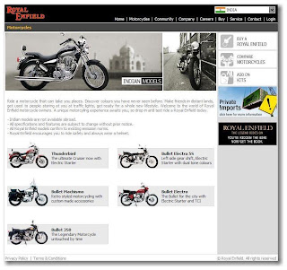 Royal Enfield Home Page