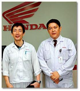 HMSI CEO Yukihiro Aoshima, and Senior V.P, Shinji Aoyama