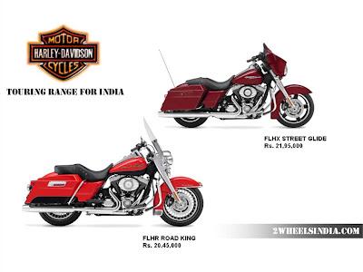 Harley Davidson India Touring Range