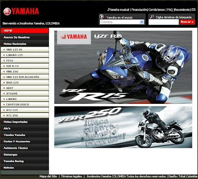Yamaha Motor Colombia Site