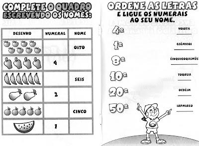 Atividades de Português Numerais