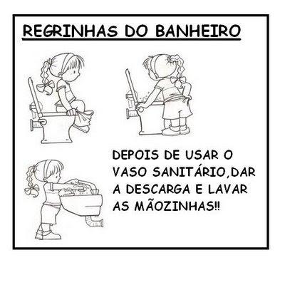 REGRAS BANHEIRO 756126 Regrinhas para Banheiro para crianças