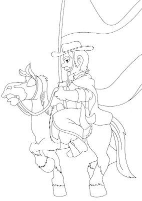 gaucho+cavalo 744541 Mais desenhos para colorir do Dia do Gaúcho para crianças