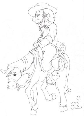 Mais desenhos para colorir do Dia do Gaúcho para crianças