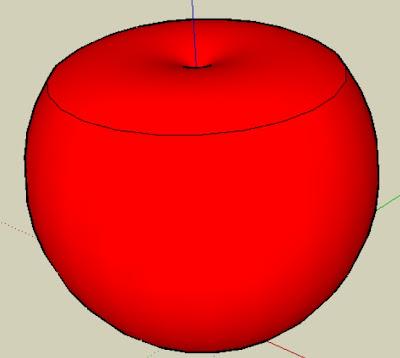 SketchUp畫的蘋果
