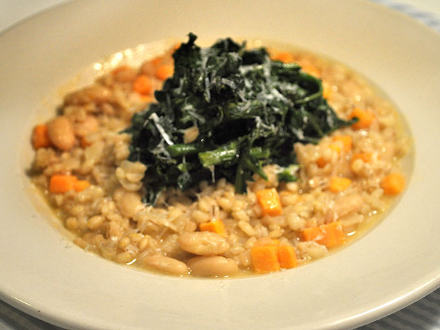 Barley Risotto With Sweet Potatoes, White Beans and Roasted Broccoli ...