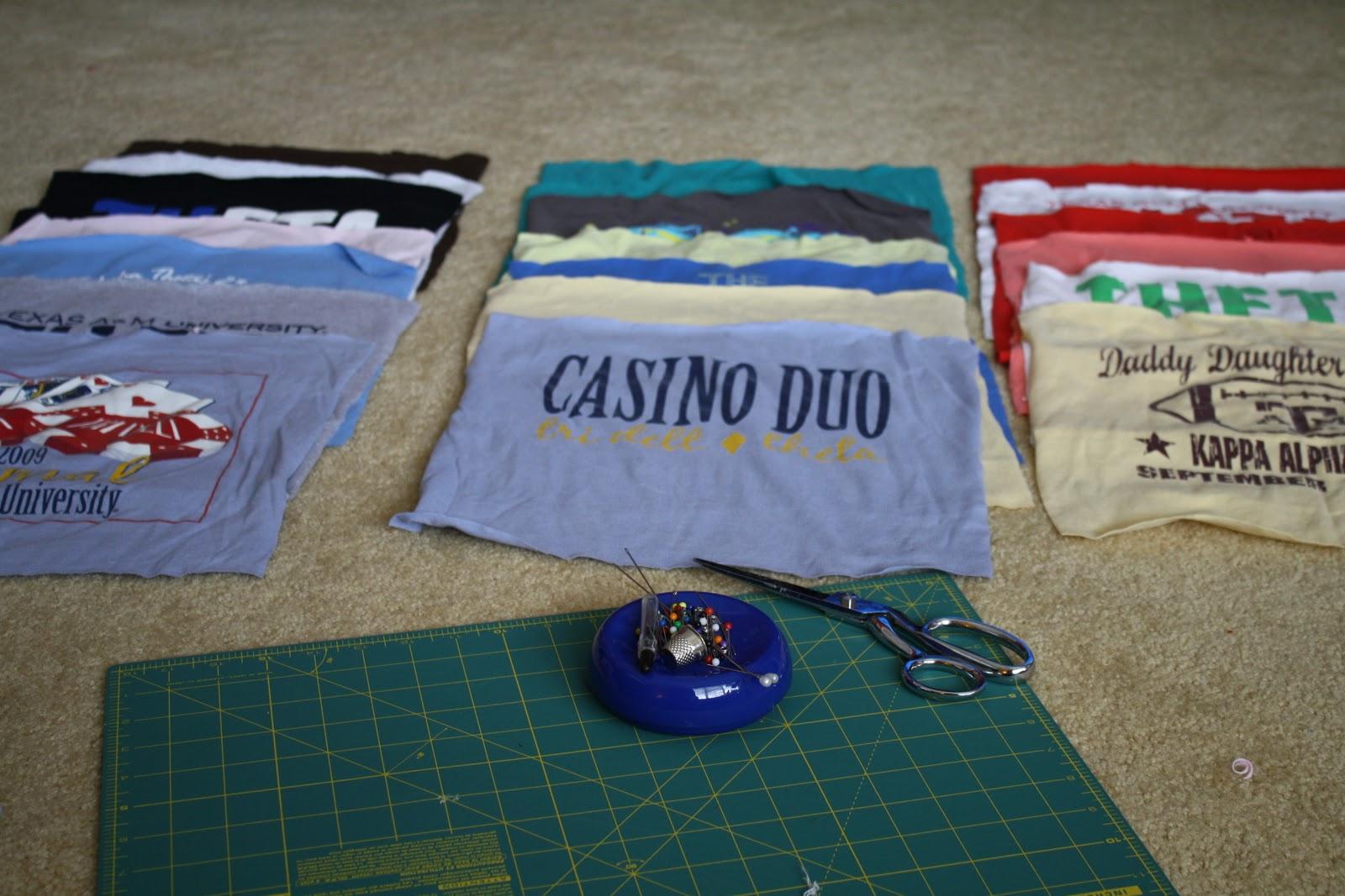 Diy T Shirt Quilt Part One Of Two Caroline Hulse Blog