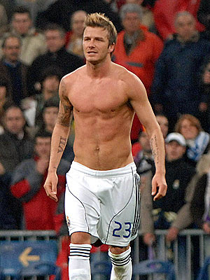 David Beckham nu pelado
