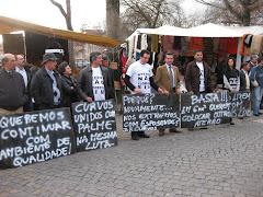 Manifestação contra aterro em Palme em zona REN
