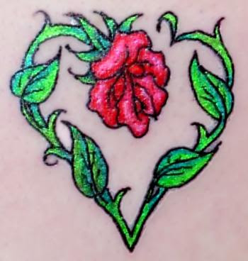 Large Pierced Rose Tattoo