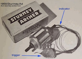 Sturmey-Archer 3-speed hub and shifter from 1959