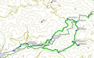Mapa de la ruta Cerro Gordo