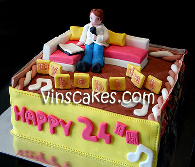 birthday cake boyfriend. theme irthday cake from