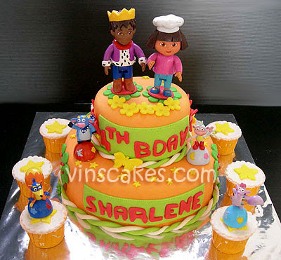 Dora  Explorer Birthday Cakes on Bandung Jakarta Online Cakes Shop  Dora The Explorer Birthday Cake