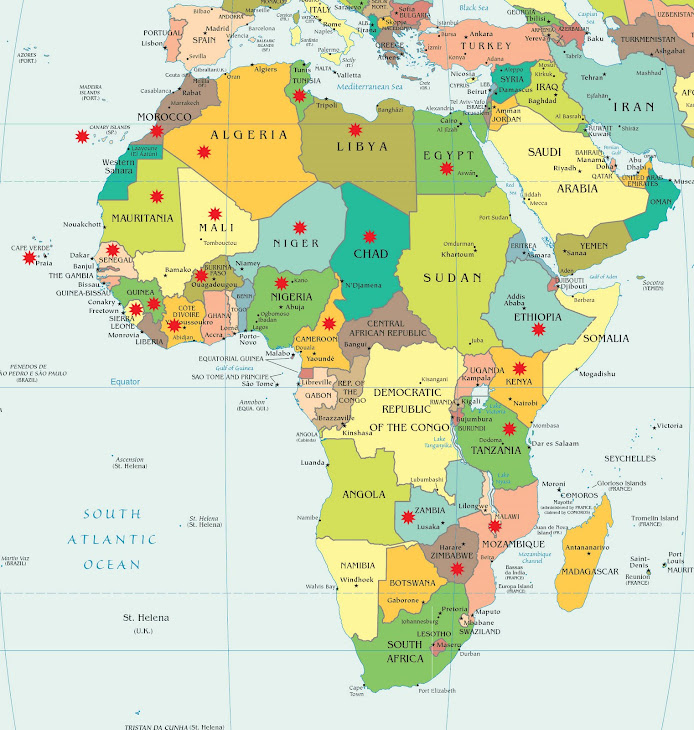 Paesi visitati. Pays visités. Visited countries.