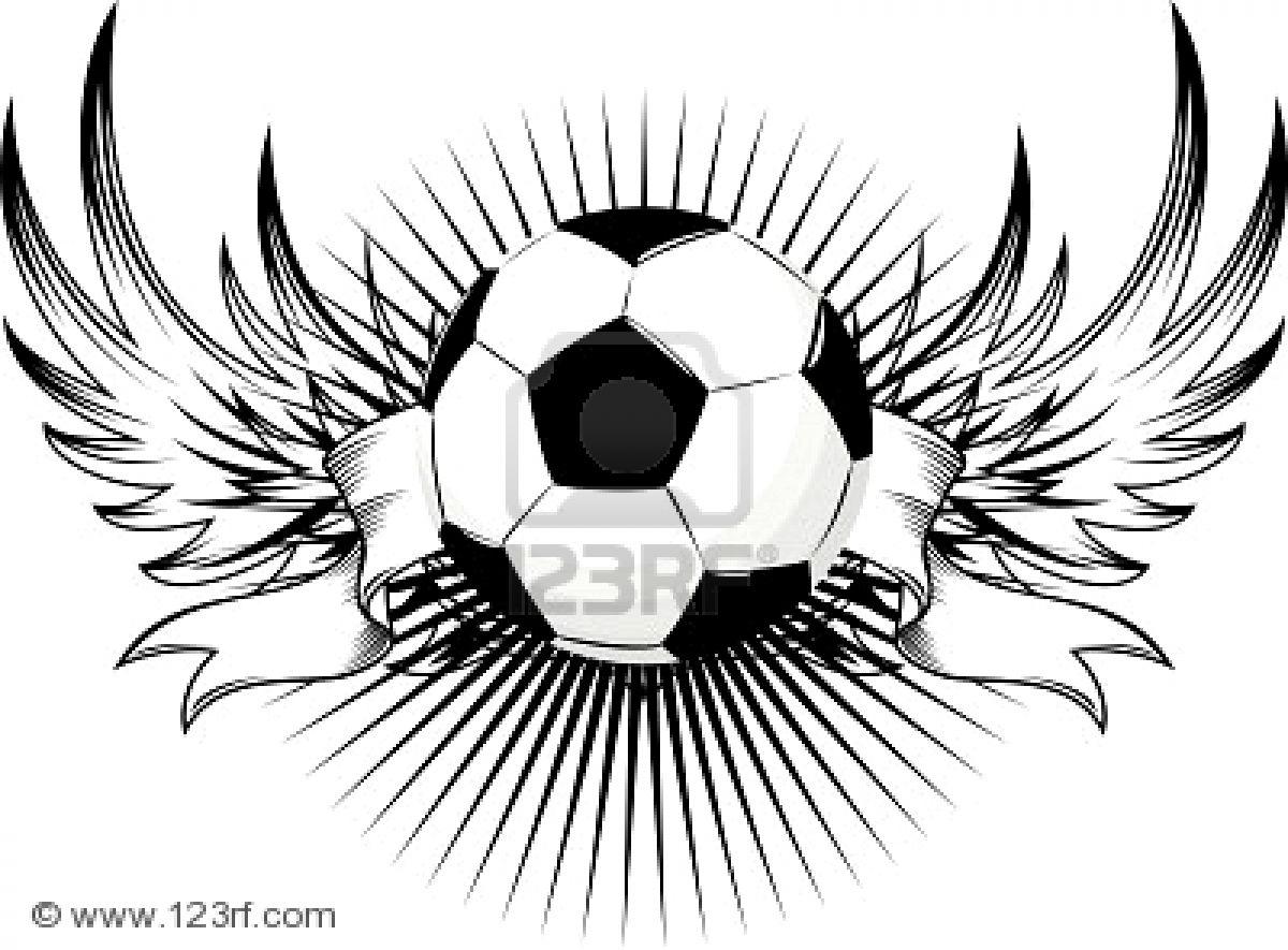 http   es 123rf com photo 5194463 dise-o-de-alas-de-pelotas-de-f-tbol    Tribal Soccer Tattoos