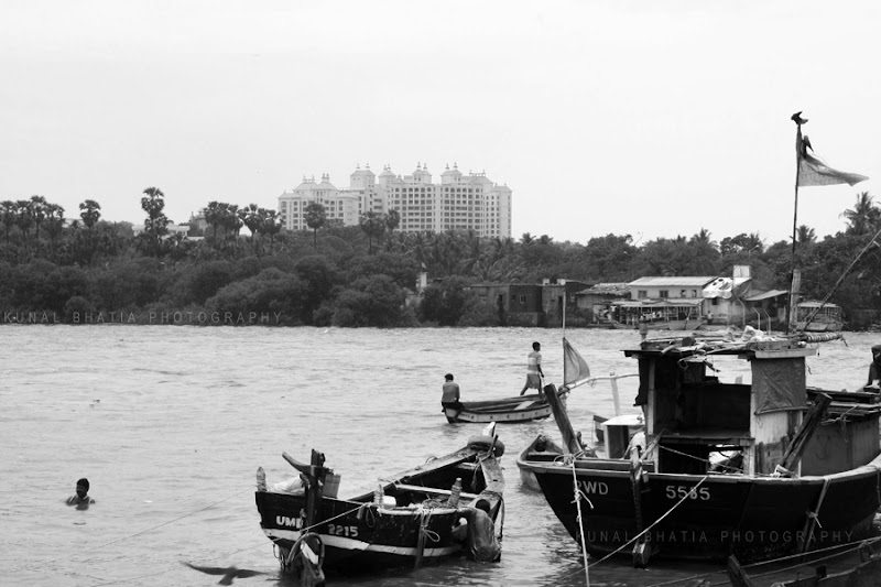 housing project in madh and versova malad creek fishermen and jetty in mumbai by kunal bhatia