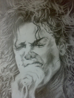 Pencil Sketching of Michael Jackson MJ Portrait Drawing Picture Making of a legend michael jackson dangerous r.i.p meaning Rest In Peace MJ Images Wallpaper lyrics His face was an art in itself