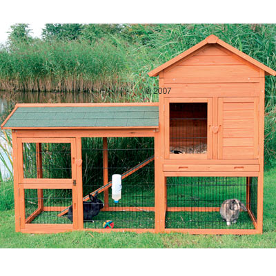 Hunny bunny sugarplum for Outdoor rabbit hutch kits