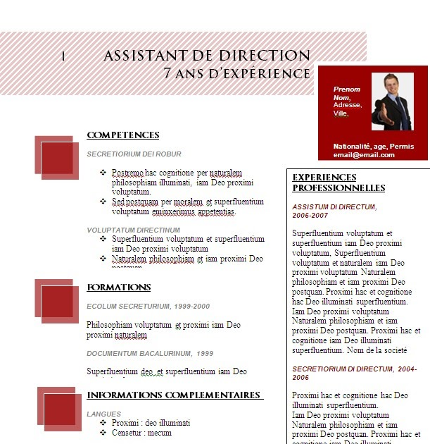 modele curriculum vitae lettre de motivation gratuit  t u00e9l u00e9charger mod u00e8le cv 01