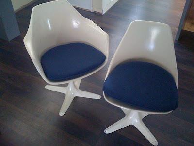 Refinishing A Set Of Six Burke Tulip Chairs ...