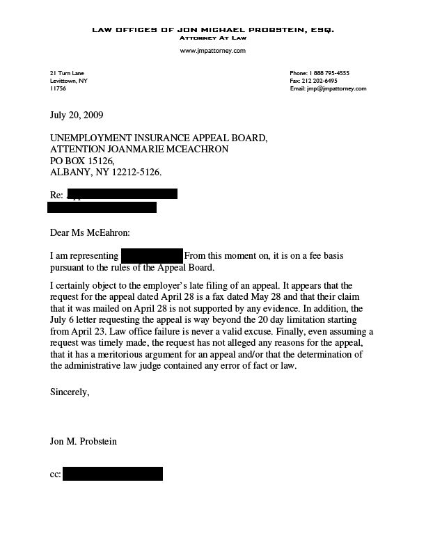 Unemployment Appeal Letter  BesikEightyCo