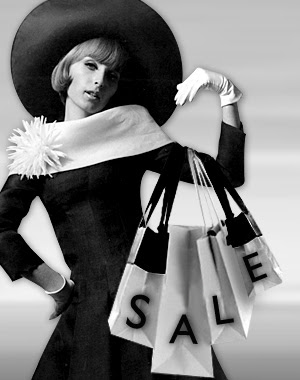 Fashionable woman with shopping bags, Sale