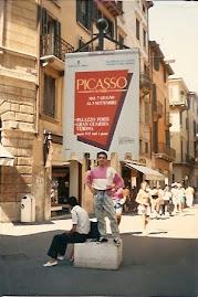 Jeovah Santos visita a exposição de Pablo Picasso em Verona Itália.