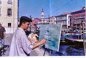 Jeovah pintando em Veneza ao vivo.