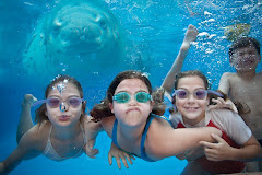 Kids with leopard seal digital art