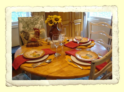 Site Blogspot  French Country Living Room on Frugal Fine Living  French Country Tablescape   Eggplant Parmesan