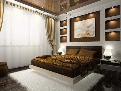 Comfortable Luxurious  Bedroom Design in Home Decor