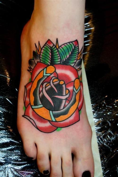 love heart tattoos on foot. love heart tattoos on feet.