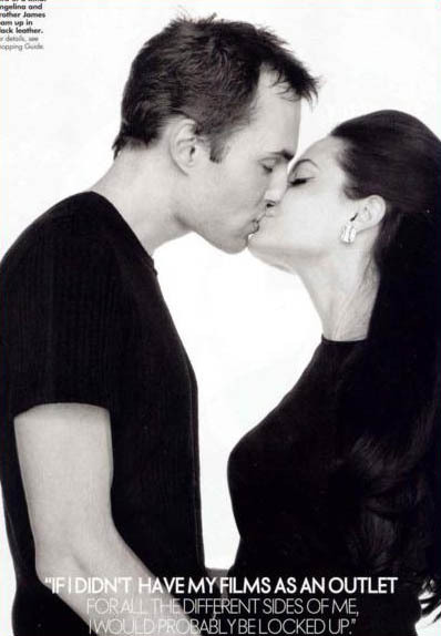 angelina jolie brother kiss