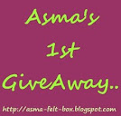 Asma 's 1st Giveaway
