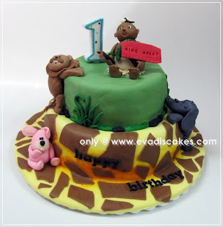 Vegan / Vegetarian Fondant Cake - Safari Theme !!!