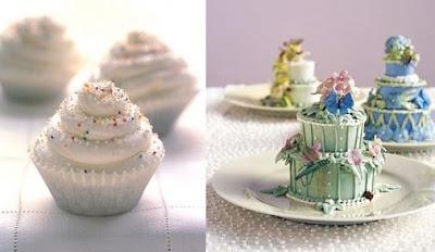 White Cupcake Wedding Cakes
