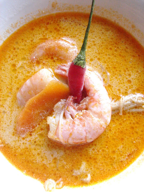East meets West: Spicy Coconut Shrimp Soup