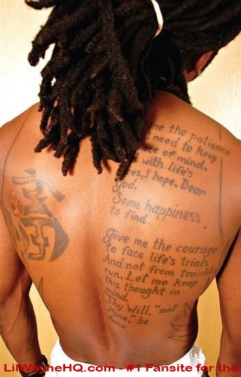 lil wayne new tattoo. lil wayne new tattoos.