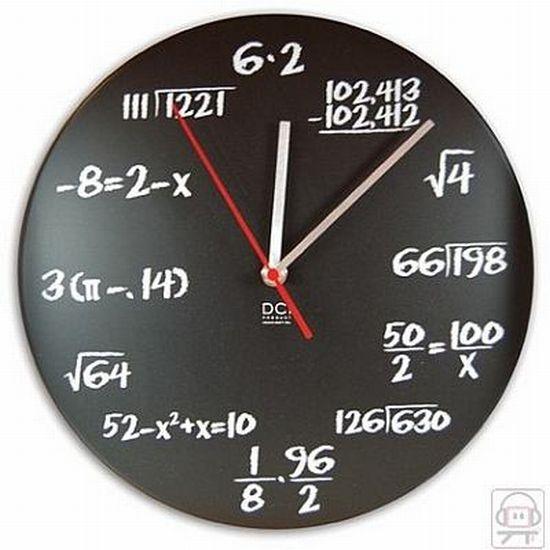 Teenagers unusual and interesting wall clock