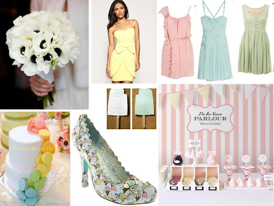 An Ice Cream Pastels Inspiration Board ~ UK Wedding Blog ~ Whimsical Wonderland Weddings