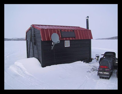 Covertress ice fishing dream house for Ice fish house accessories