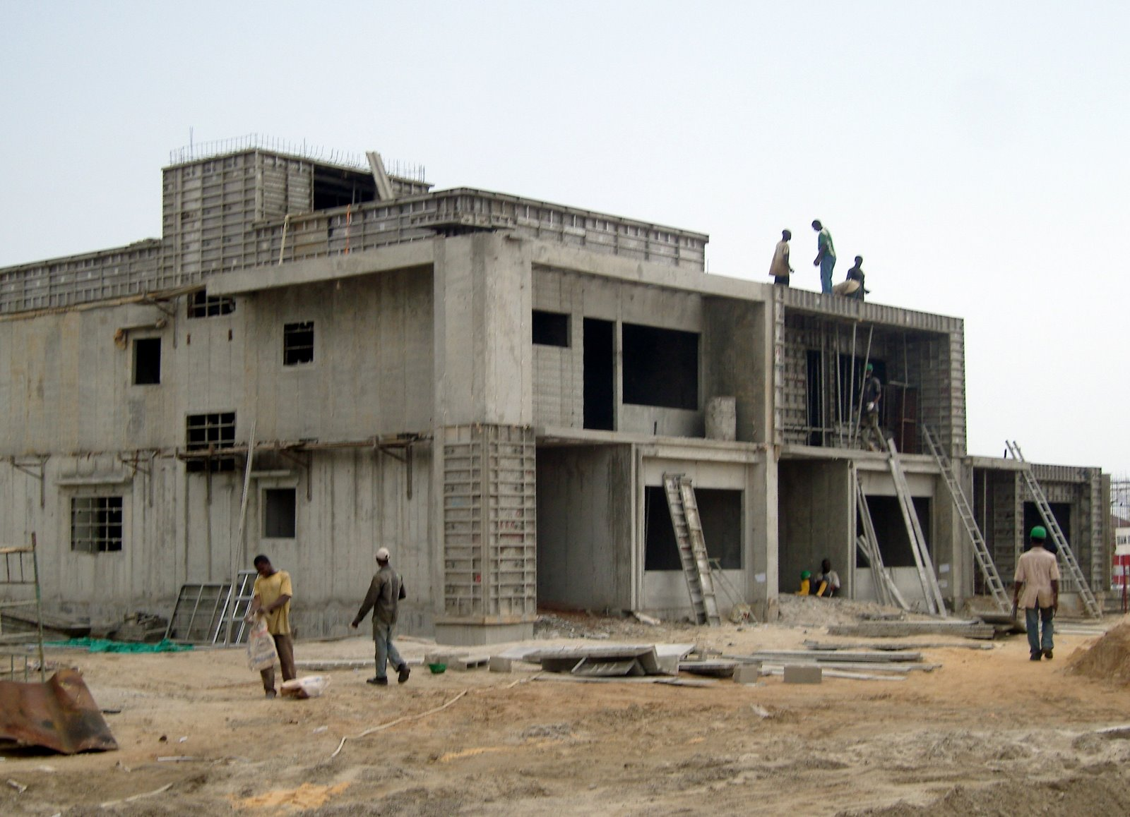 Concrete forms for Building a concrete house