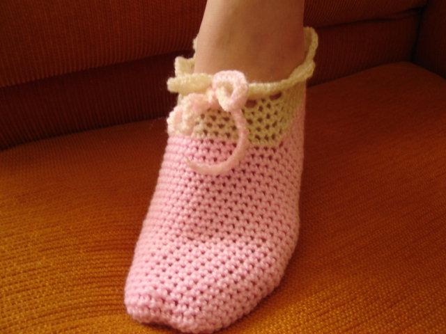 sapatilha de croche
