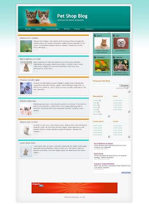 template pet shop blogger