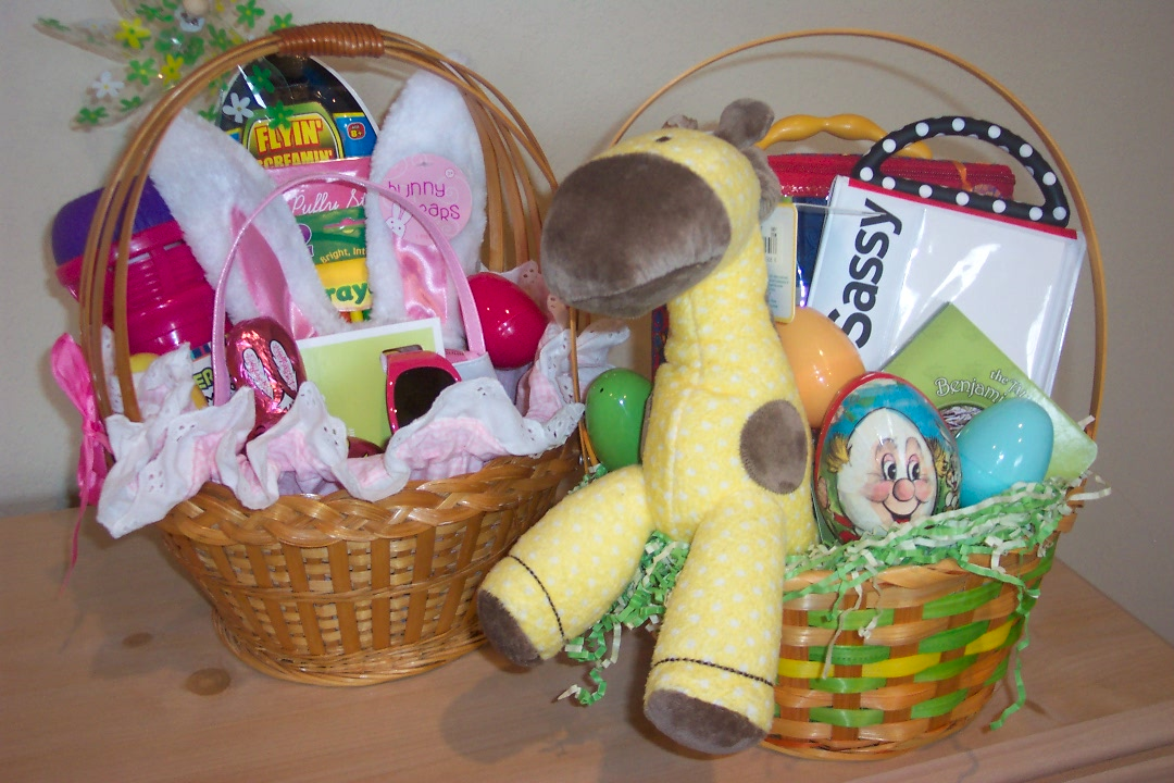 Mel short shares easter baskets im having a blast putting the kids baskets together i thought it would be hard to do a basket for a 3 month old since he cant eat anything and hes negle Image collections