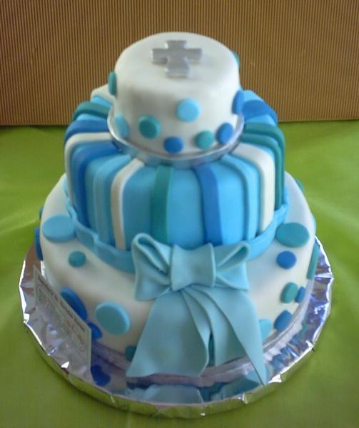 Imagenes de tortas decoradas de bautizo imagui - Decoracion para bautismo varon ...