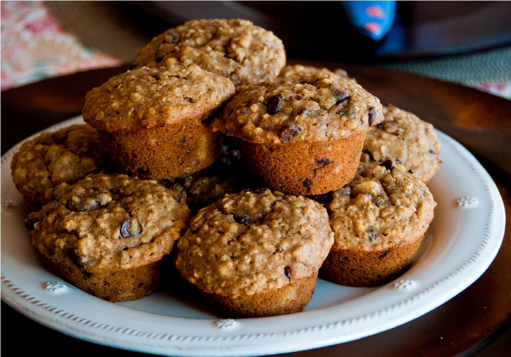 Bite Full of Life: Oatmeal Banana Nut Chocolate Chip Muffins